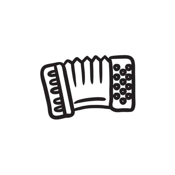 Akkordeon Skizze-Symbol – Vektorgrafik