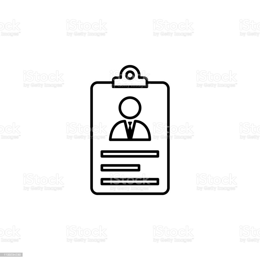 Account Cv Resume Icon On White Background Can Be Used For Web