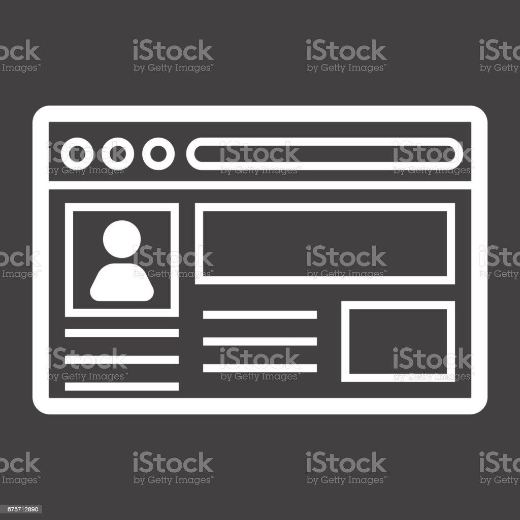 帳戶行圖示、 社交媒體和網站按鈕,向量圖形,在黑色的背景,eps 10 的線性模式。 免版稅 帳戶行圖示 社交媒體和網站按鈕向量圖形在黑色的背景eps 10 的線性模式 向量插圖及更多 原木 圖片