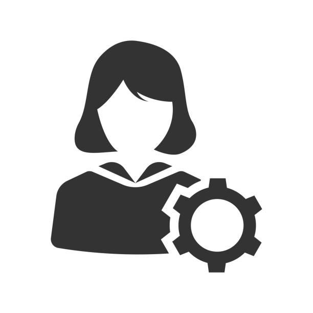 ilustraciones, imágenes clip art, dibujos animados e iconos de stock de icono de administración de cuentas - gerente de cuentas