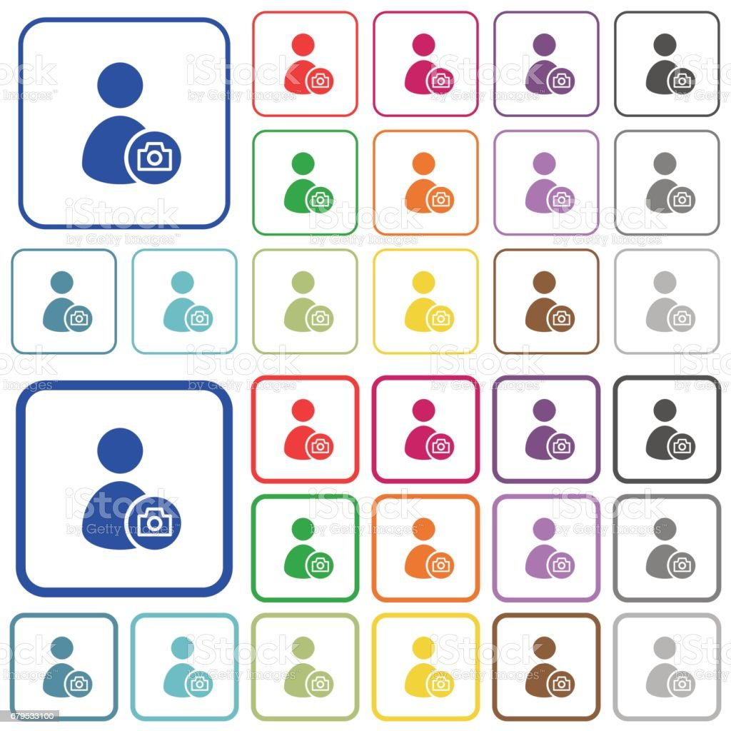 Account profile photo outlined flat color icons royalty-free account profile photo outlined flat color icons stock vector art & more images of applying
