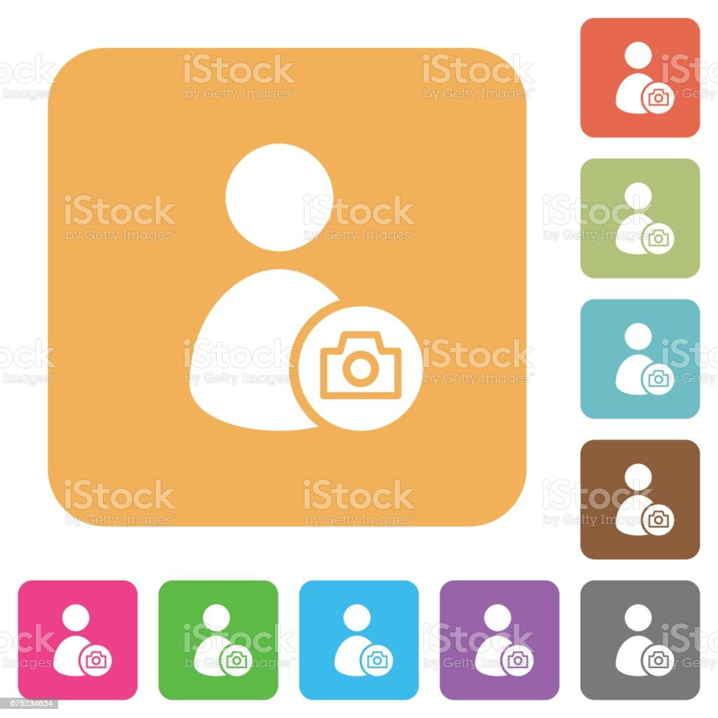 Account profile photo rounded square flat icons royalty-free account profile photo rounded square flat icons stock vector art & more images of administrator