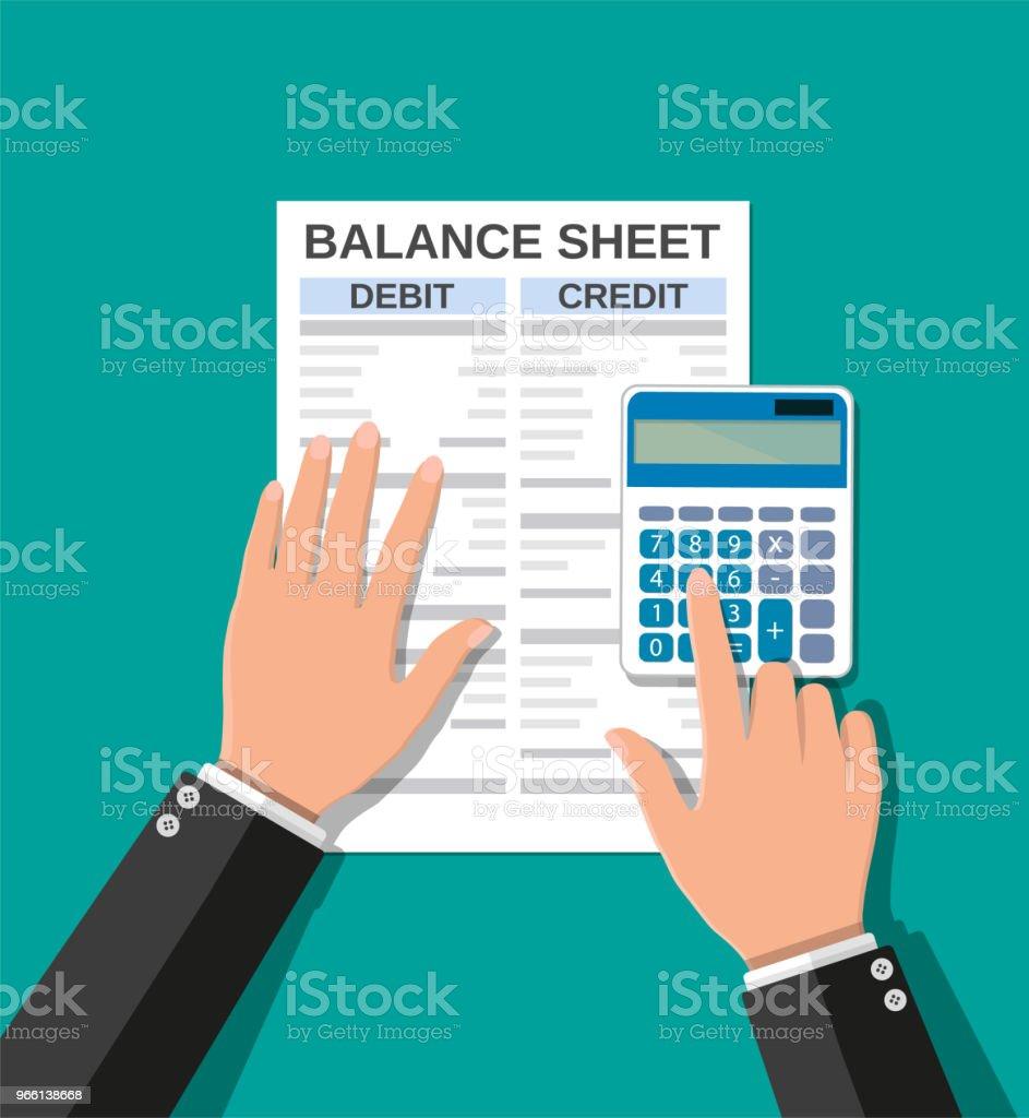 Accountant gecontroleerd saldo - Royalty-free Accountancy vectorkunst