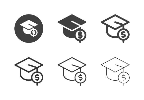 Accountant Degree Icons - Multi Series vector art illustration