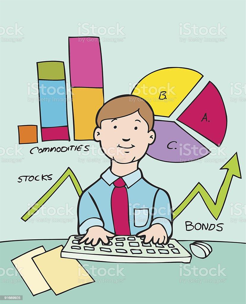 Accountant vector art illustration