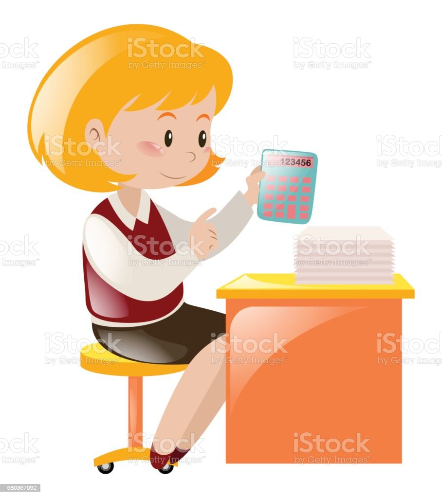 Accountant working on the desk royalty-free accountant working on the desk stock vector art & more images of adult