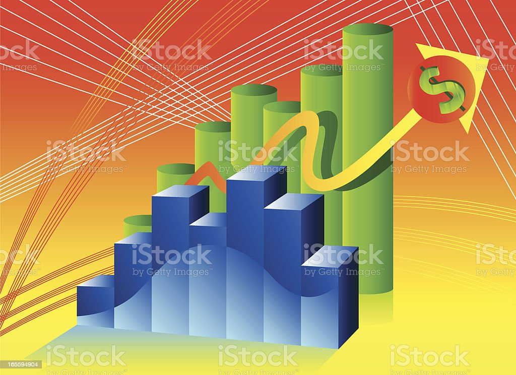 Accounting dollars is going up royalty-free accounting dollars is going up stock vector art & more images of abstract
