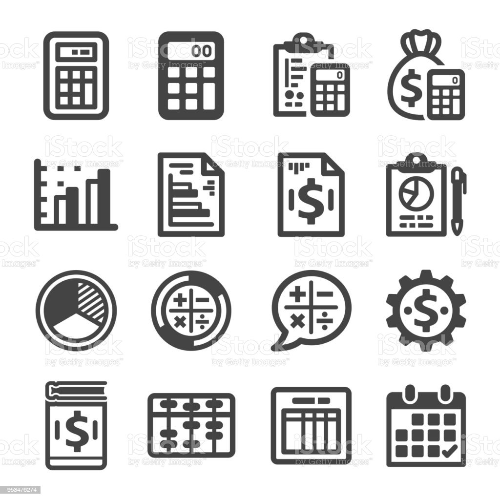 accounting icon vector art illustration