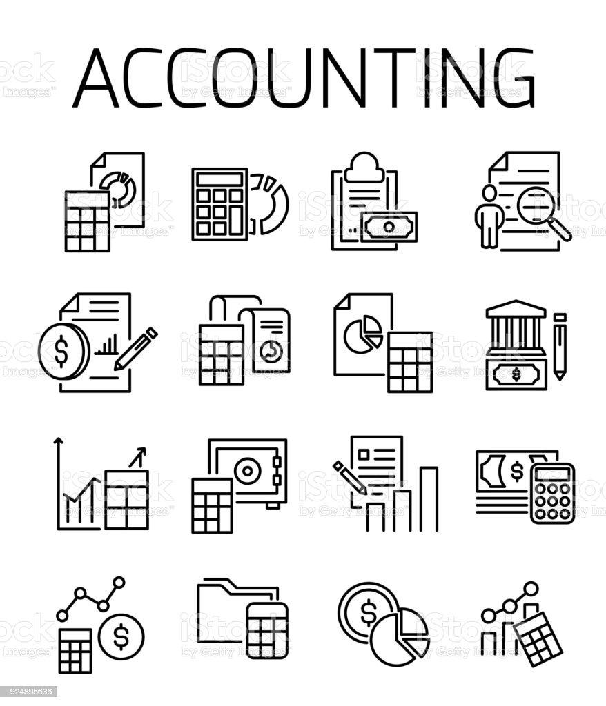 Rechnungswesen Verwandte Vektor Icon Set Stock Vektor Art Und Mehr