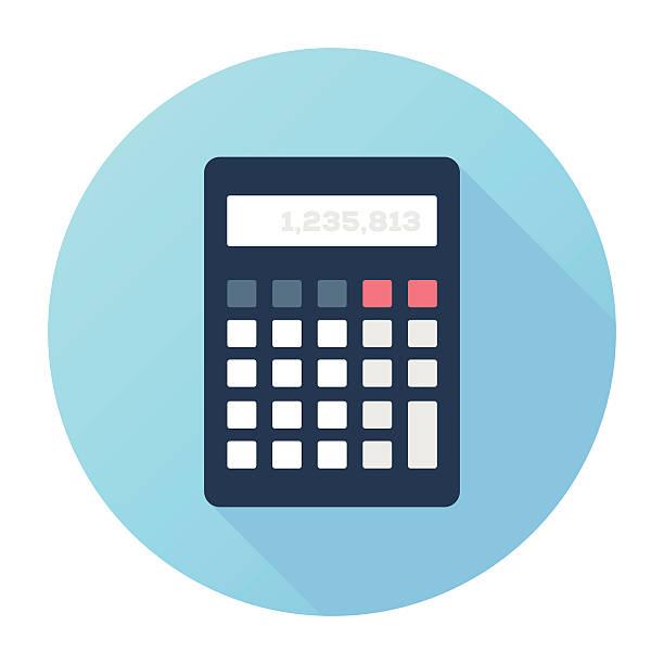 illustrazioni stock, clip art, cartoni animati e icone di tendenza di contabilità - calcolatrice