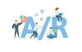 istock A/R, Accounts Receivable. Concept with keywords, people and icons. Flat vector illustration. Isolated on white. 1289129470