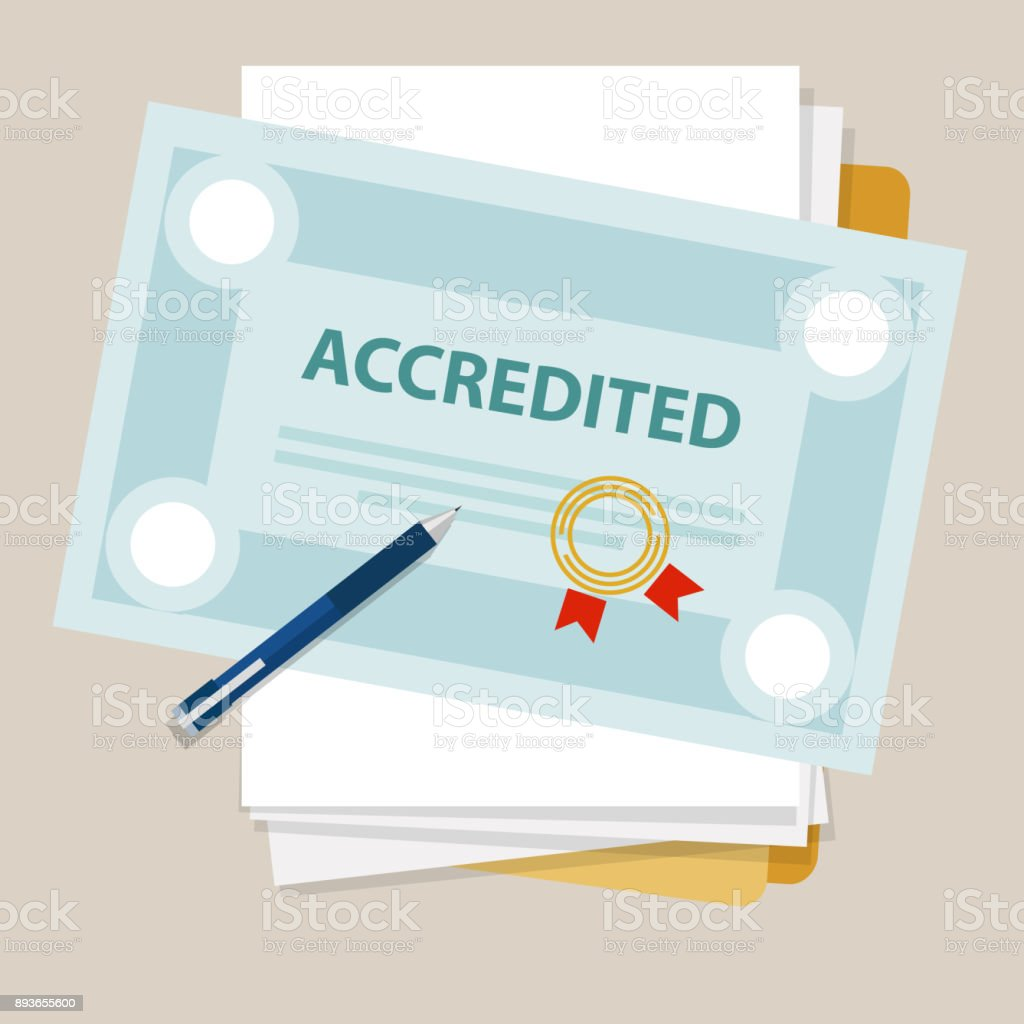 Accredited Authorized Organization Business Certificate Paper With