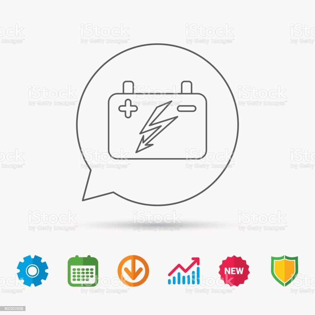 Accumulator Symbol Elektrische Batterie Unterschreiben Stock Vektor ...