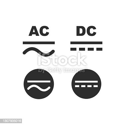 ac-dc current symbol icon vector illustration design template web