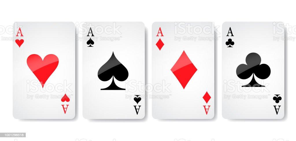 エースのカードのスーツのアイコン ベクトル トランプ シンボル ベクトル