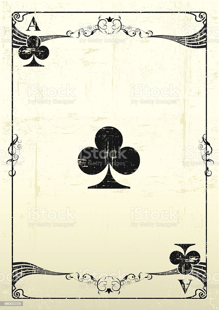 Ace Of Clubs grunge background royalty free ace of clubs grunge background stockvectorkunst en meer beelden van achtergrond - thema