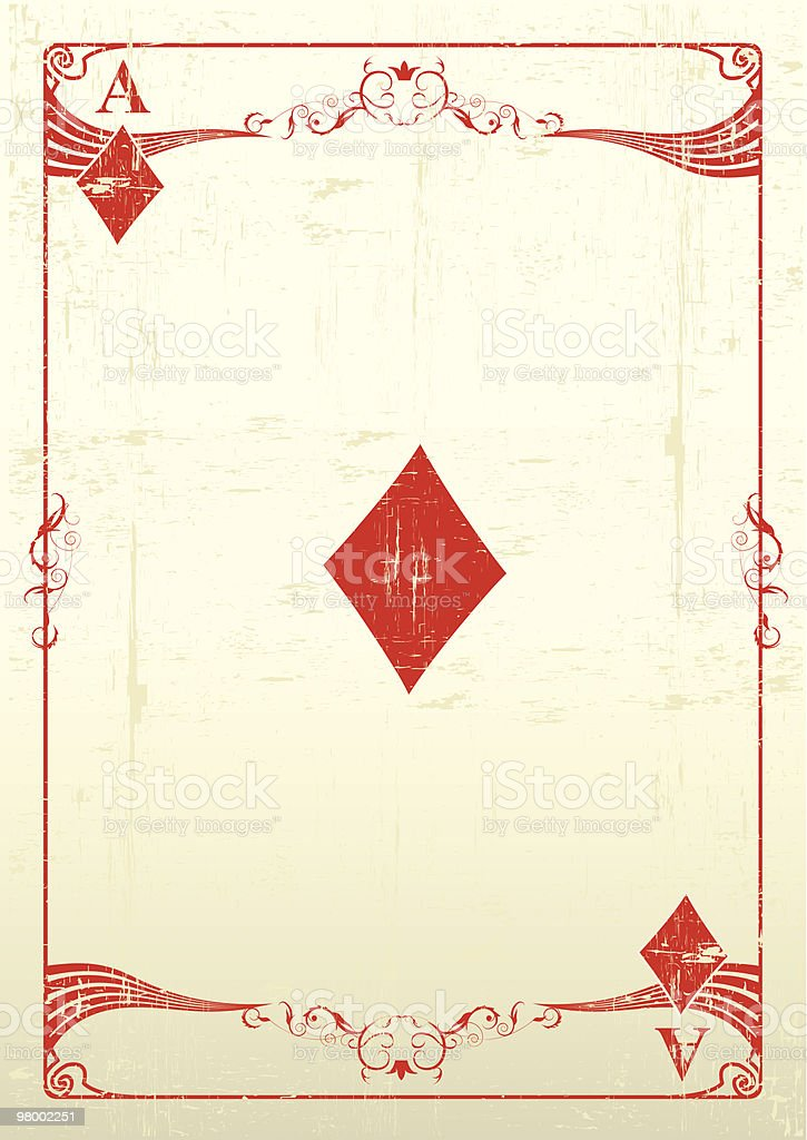 Ace Of Diamonds grunge background royalty-free ace of diamonds grunge background stock vector art & more images of ace