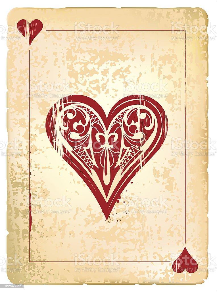 Ace of hearts vector art illustration