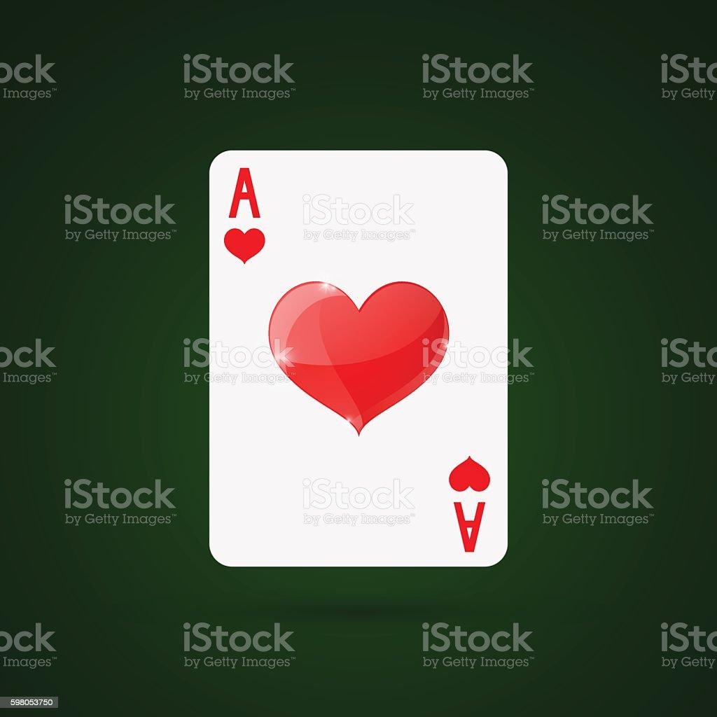 Ace of hearts. Vector illustration vector art illustration