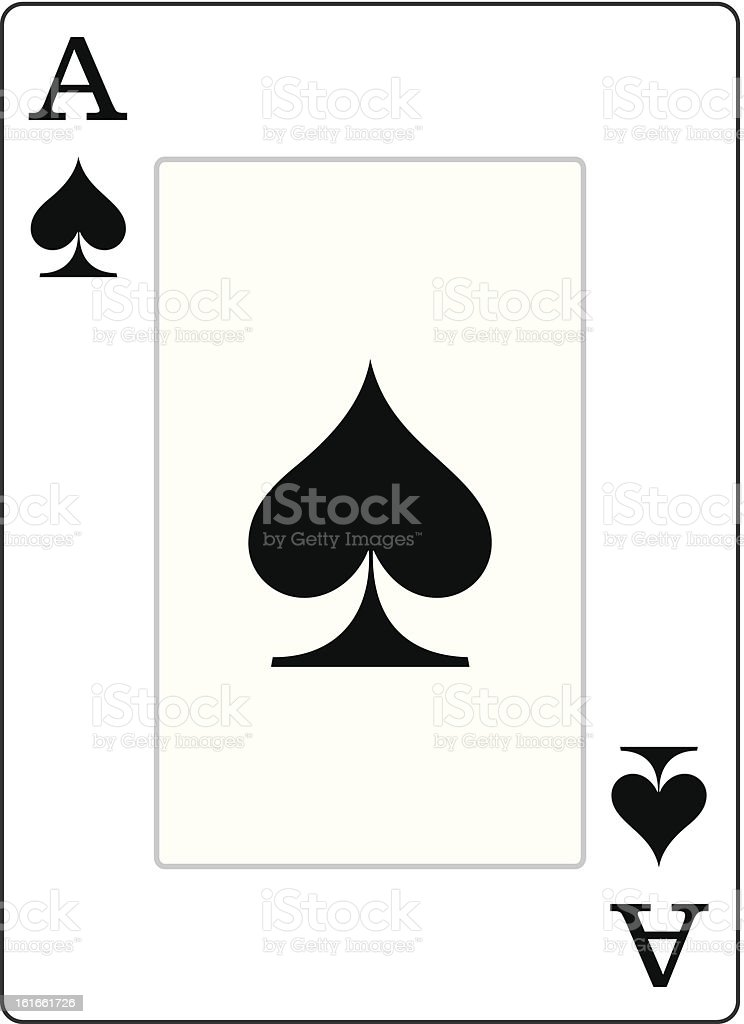 Ace of Spades Illustration vector art illustration