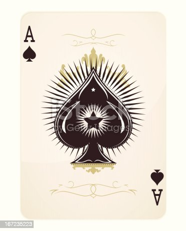 Ace of Spades - vector illustration
