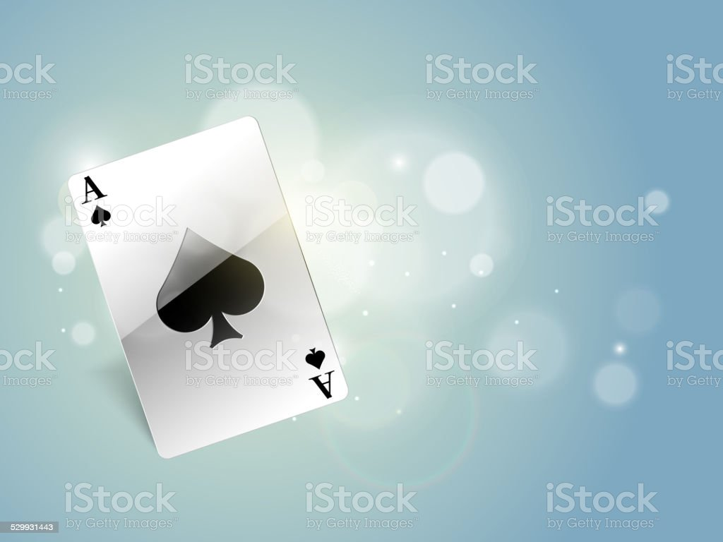 Ace of spades playing card. vector art illustration