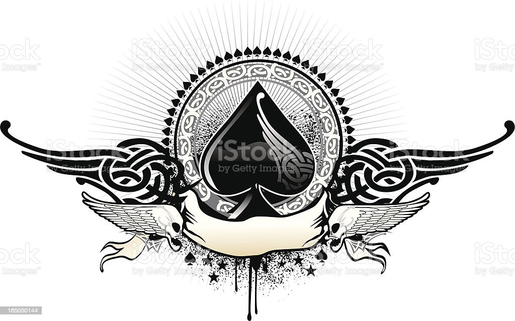 Ace Of Spades Symbol Decorated Stock Vector Art More Images Of