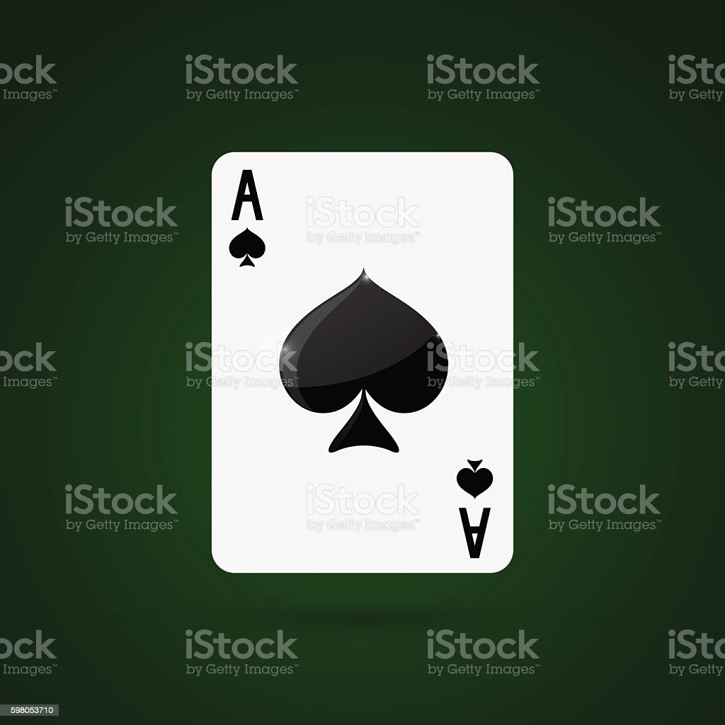 Ace of spades. Vector illustration vector art illustration