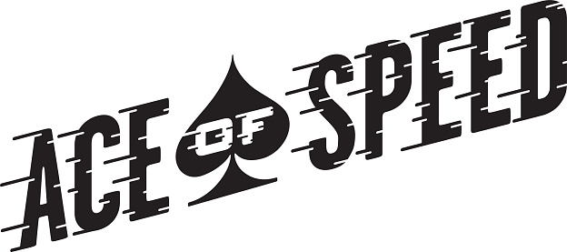 Ace Of Speed Retro Vector Design Stock Illustration