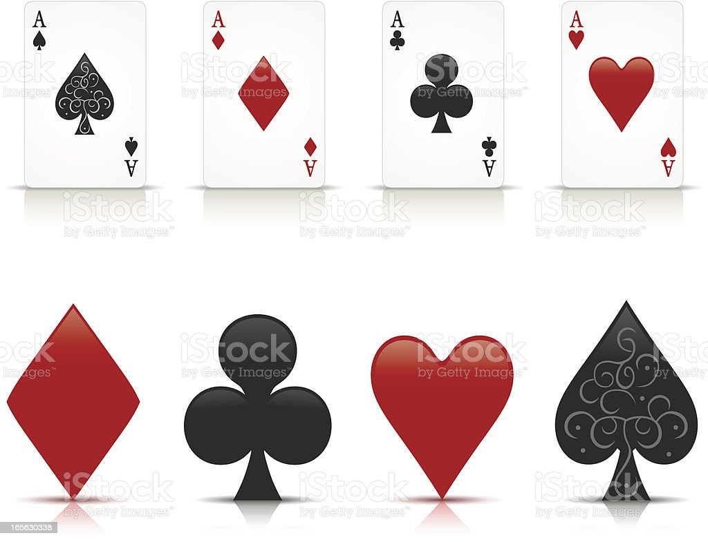 Aces royalty-free stock vector art