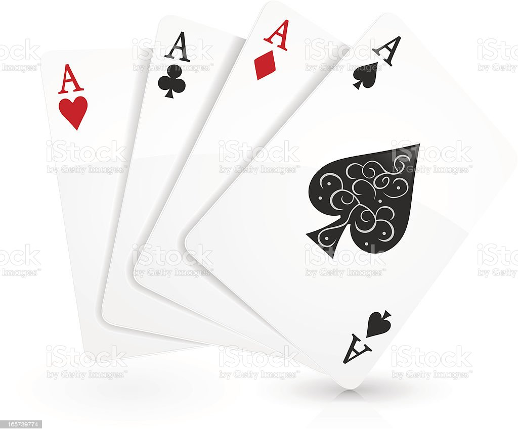 Aces vector art illustration