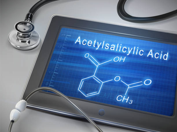 acetylsalicylic acid words display on tablet acetylsalicylic acid words display on tablet over table acetylsalicylic stock illustrations