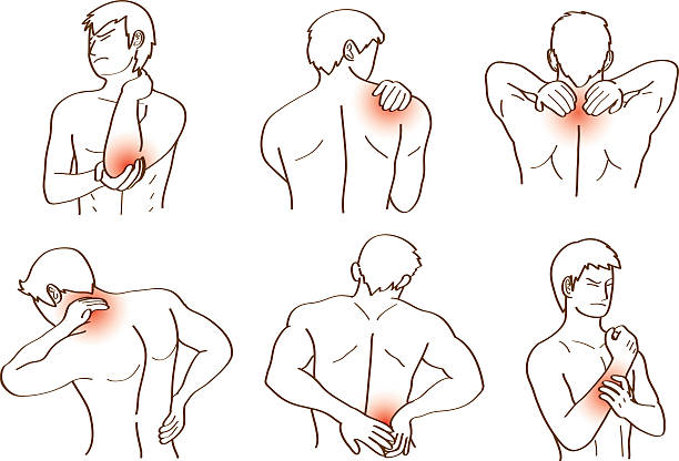 ache human ache any point in body action vector backache stock illustrations