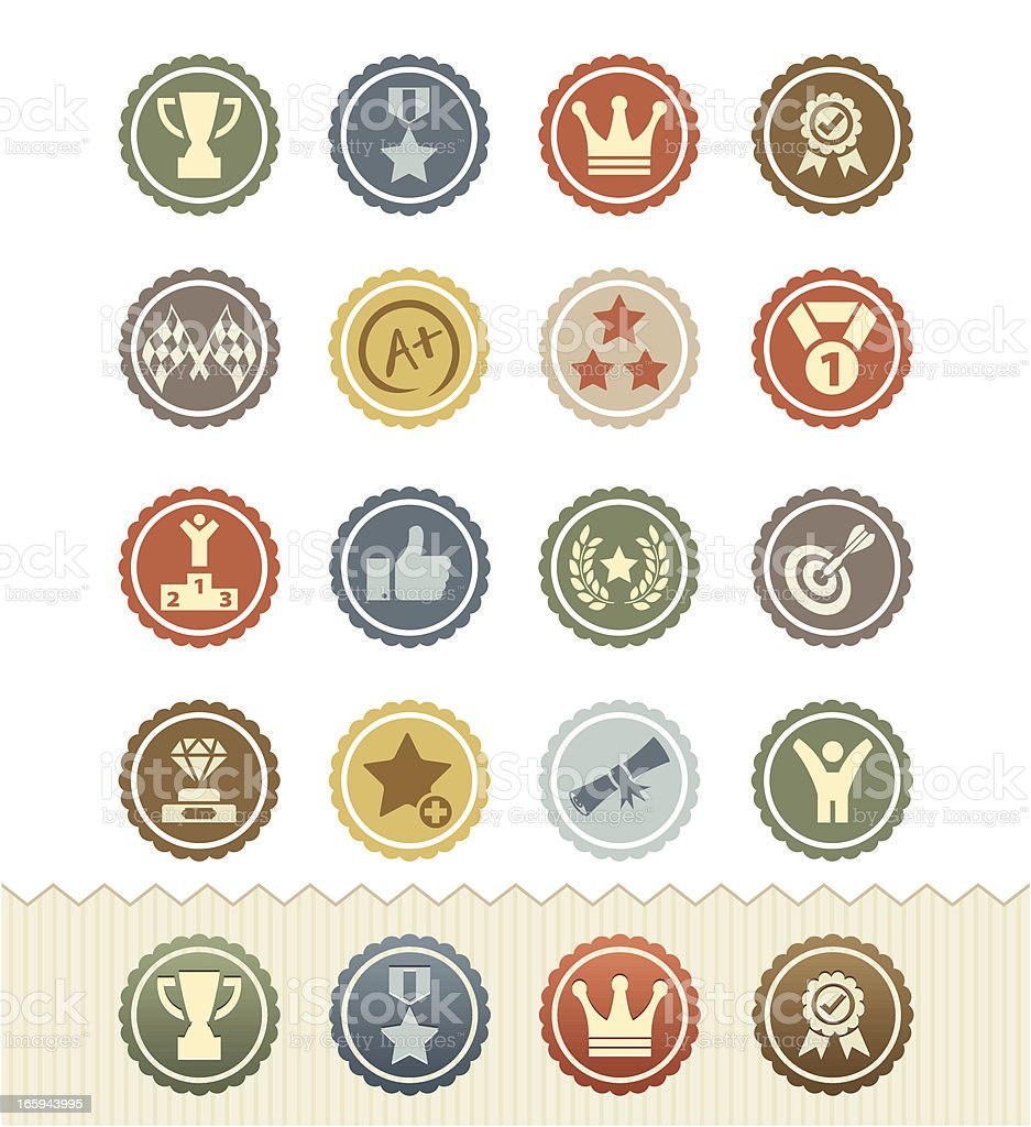 Achievement and Awards Icons : Vintage Badge Series royalty-free stock vector art