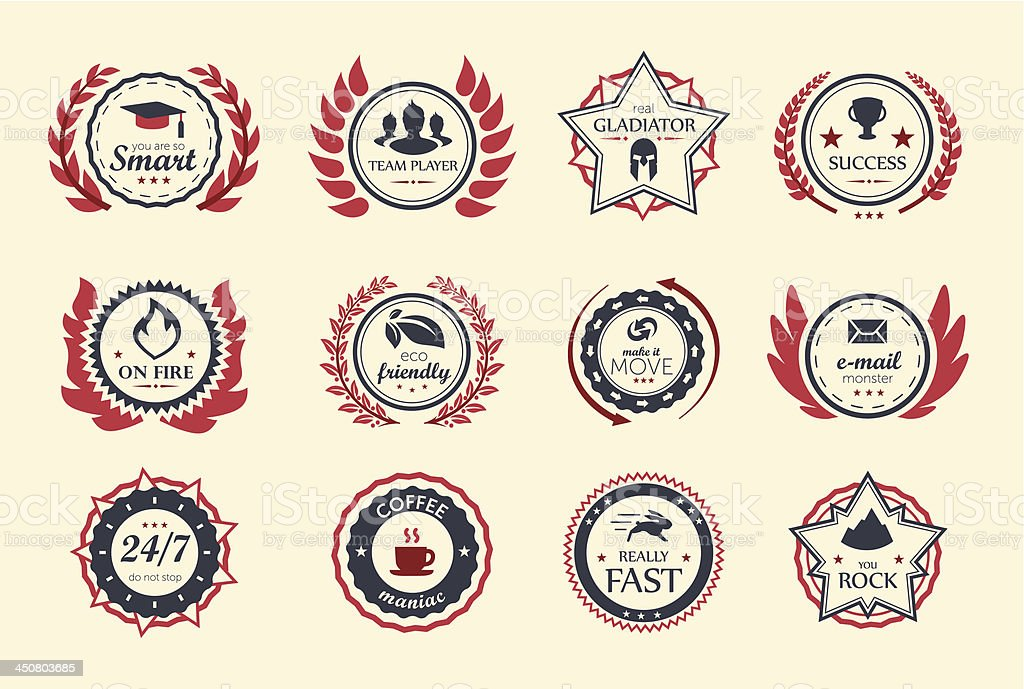 Achievement Badges royalty-free stock vector art