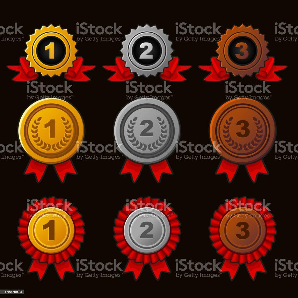 Achievement icons set royalty-free achievement icons set stock vector art & more images of achievement