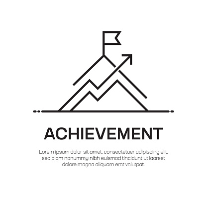 Achievement Vector Line Icon - Simple Thin Line Icon, Premium Quality Design Element