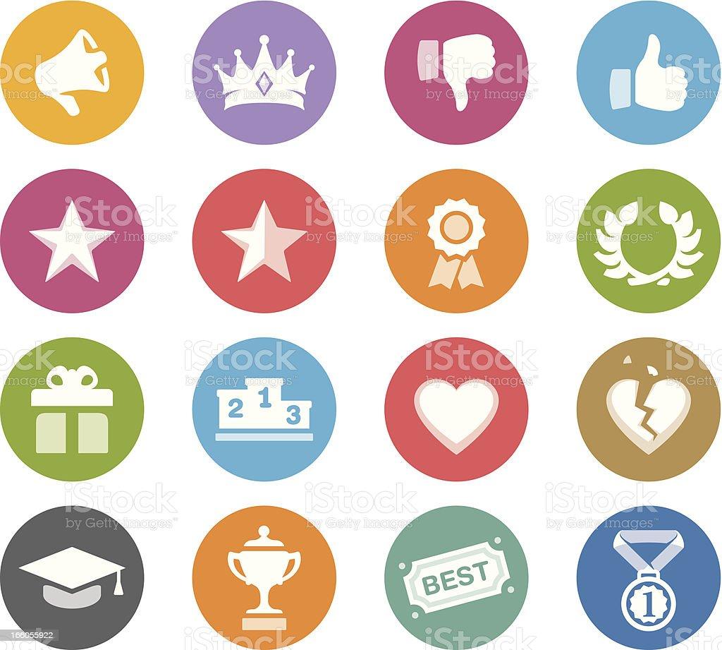 Achievement / Wheelico icons royalty-free stock vector art