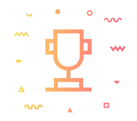 Achievements Line Style Icon Design
