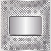 silver background with banner