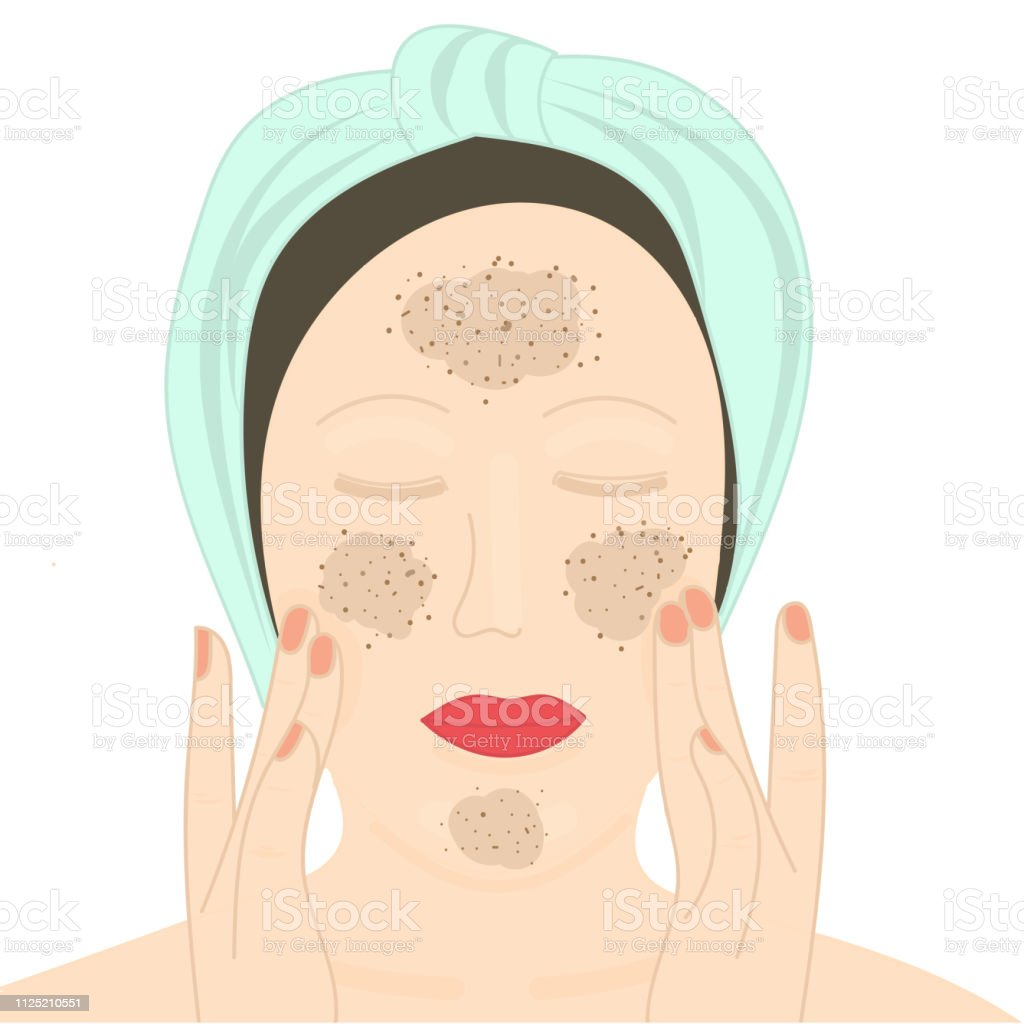 Acne And Skin Problems Facial Dark Spots And Facial Cleansing Stock