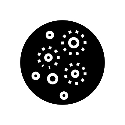 acne skin disease glyph icon vector illustration