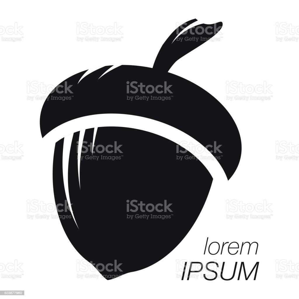 Acorn Logo. Silhouette Acorn. Template Logo Company vector art illustration