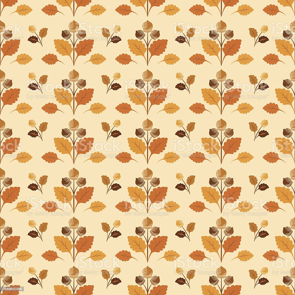 Acorn Seamless Pattern royalty-free stock vector art