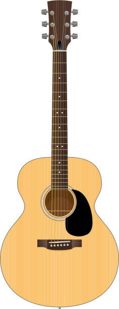 Acoustic Guitar Illustration vector art illustration