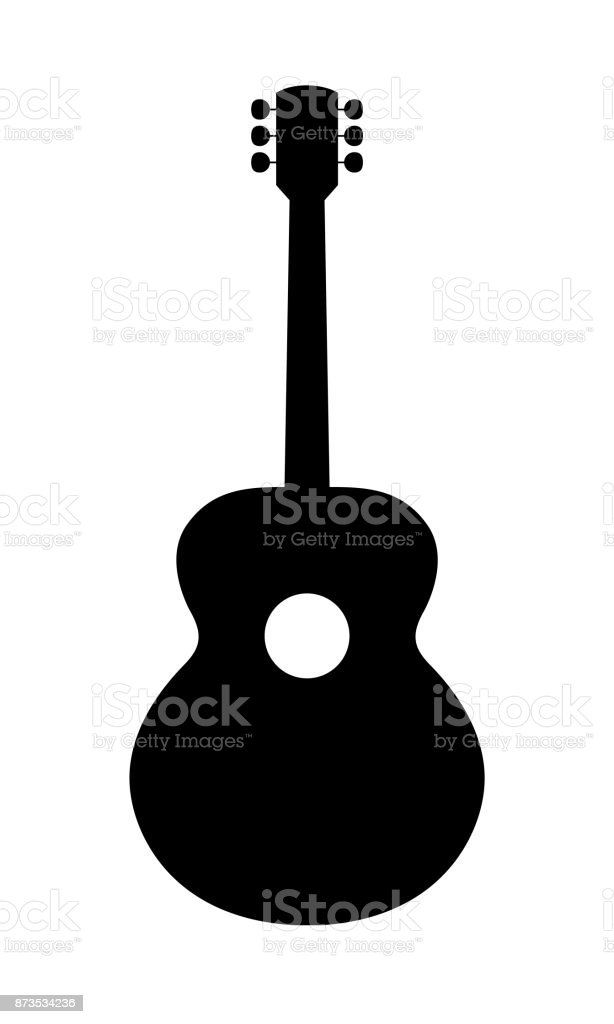 Acoustic Guitar Silhouette Stock Vector Art & More Images of ...
