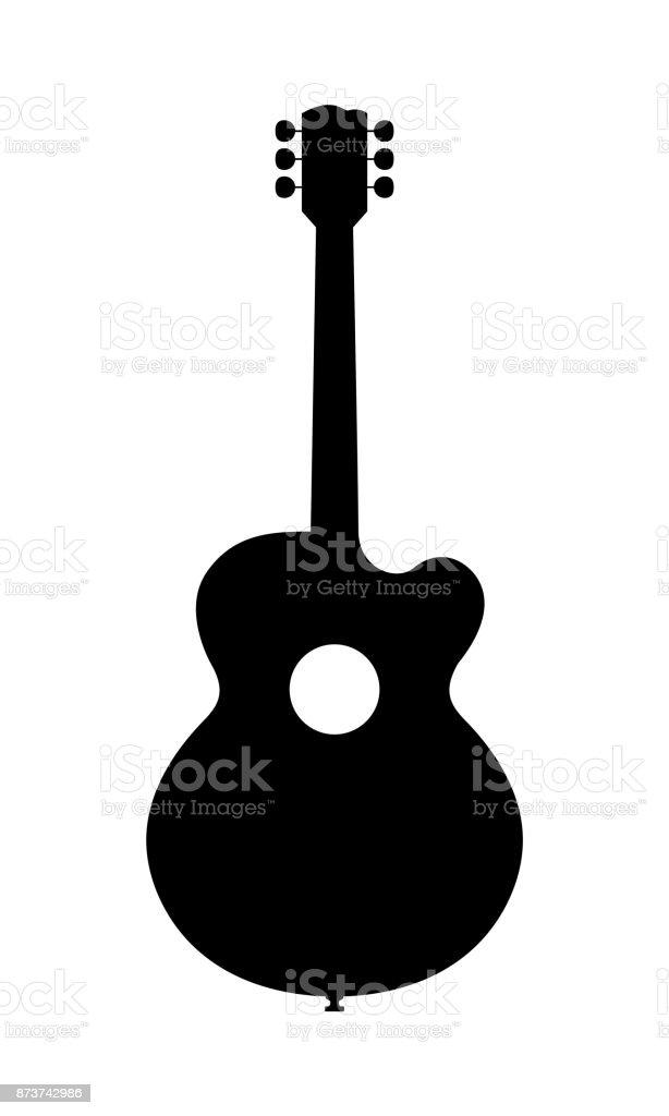 Akustische Gitarre Silhouette Stock Vektor Art und mehr Bilder von ...