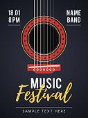 Acoustic music festival poster