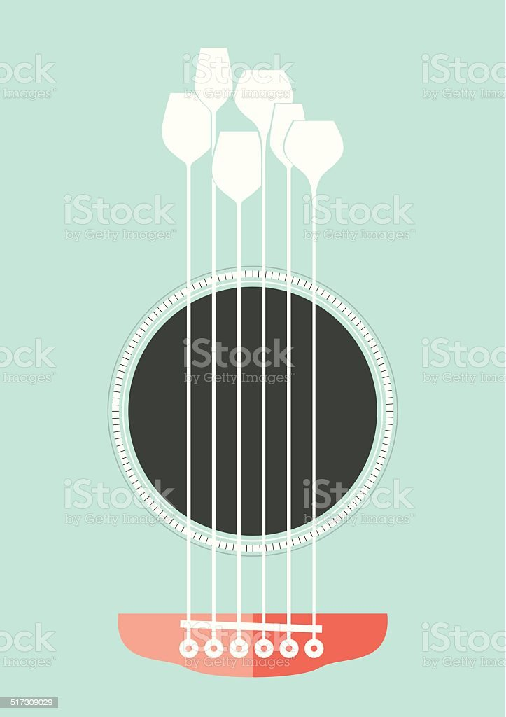 Acoustic Party vector art illustration