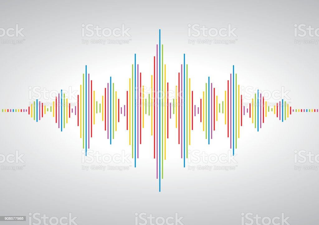 Acoustic-Wave-symbol – Vektorgrafik